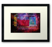 this is the periodic table of the elements Framed Print