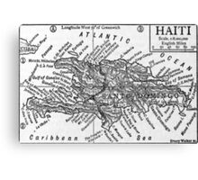 Vintage Map of Haiti (1911) Canvas Print