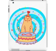 Birthday cat with a cake. iPad Case/Skin