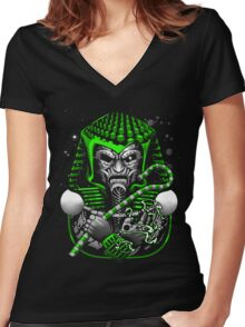 Doctor Doom Tut Women's Fitted V-Neck T-Shirt