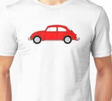 VW Beetle Red Unisex T-Shirt