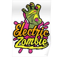 Electric Zombie Poster