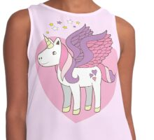 pegasus unicorn on a pretty heart Contrast Tank