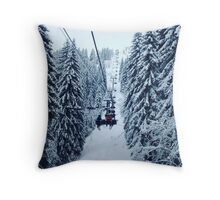 Chair Lift Throw Pillow