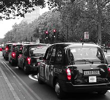London Taxis - Black cabs by santoshputhran
