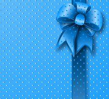 Blue Present Bow by Medusa81
