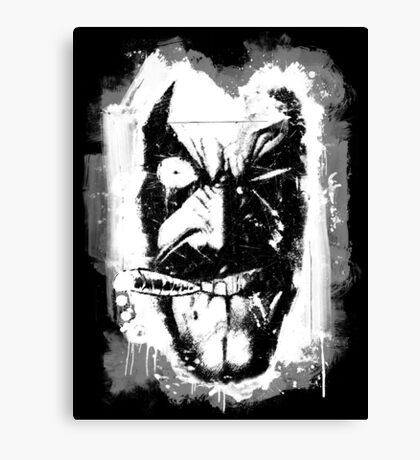 Lobo (w/ Grunge Background) Canvas Print