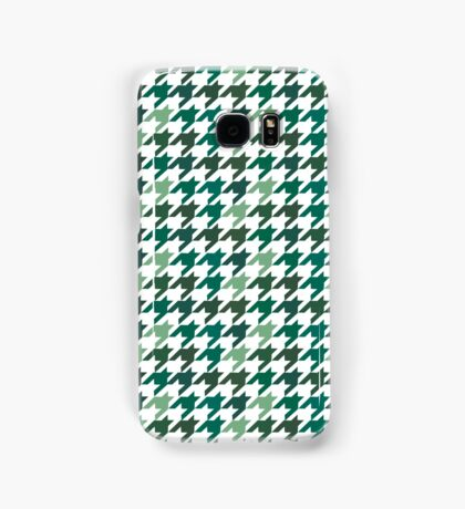 green Houndstooth Pattern Samsung Galaxy Case/Skin