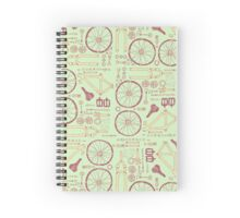 Bicycle Parts Spiral Notebook