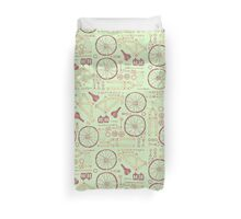 Bicycle Parts Duvet Cover