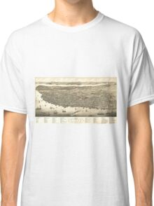 Vintage Pictorial Map of Halifax (1879) Classic T-Shirt
