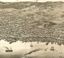 Vintage Pictorial Map of Halifax (1879) Sticker