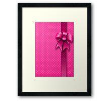 Pink Present Bow Framed Print