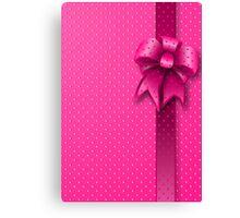 Pink Present Bow Canvas Print