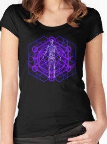 Sacred Geometry and the Human Body Women's Fitted Scoop T-Shirt