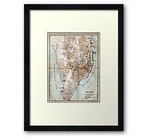 Vintage Map of Halifax Nova Scotia (1890)  Framed Print