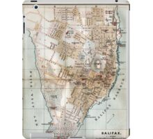 Vintage Map of Halifax Nova Scotia (1890)  iPad Case/Skin