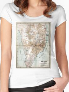 Vintage Map of Halifax Nova Scotia (1890)  Women's Fitted Scoop T-Shirt