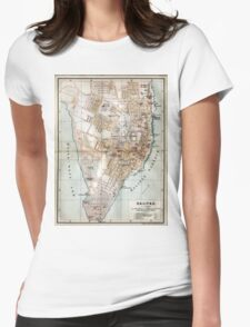 Vintage Map of Halifax Nova Scotia (1890)  Womens Fitted T-Shirt