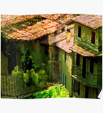 Roofs in Provence, France Poster