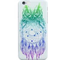 Dreamy Owl_Multi Blue iPhone Case/Skin