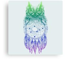 Dreamy Owl_Multi Blue Canvas Print
