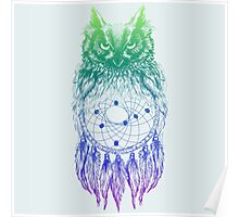 Dreamy Owl_Multi Blue Poster
