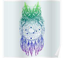 Dreamy Owl_Multi Blue Poster