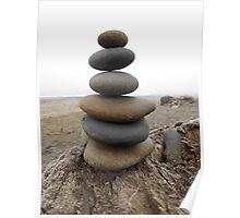 Six Stacked Stones Poster