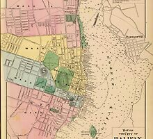 Vintage Map of Halifax Nova Scotia (1878) by BravuraMedia