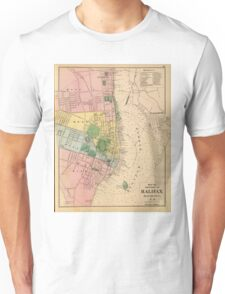 Vintage Map of Halifax Nova Scotia (1878) Unisex T-Shirt