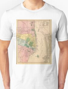 Vintage Map of Halifax Nova Scotia (1878) T-Shirt