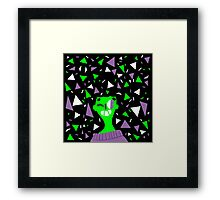 Far Out Triangles! Framed Print