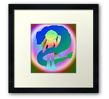 Radioactive Rainbows X Quetzalcoatl Framed Print