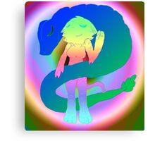 Radioactive Rainbows X Quetzalcoatl Canvas Print