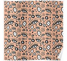 Tribal in Peach Poster