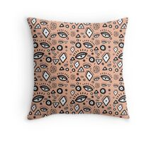 Tribal in Peach Throw Pillow