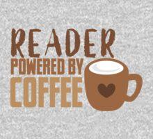 Reader powered by coffee Kids Tee