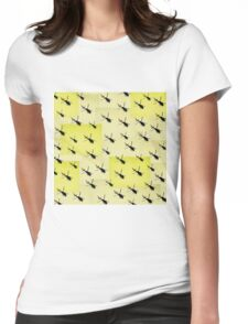 Helifly yellow - Helimosca amarillo Womens Fitted T-Shirt