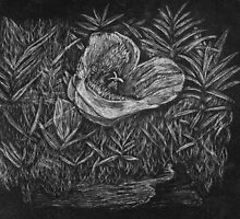 Mariposa Lily Scratch Art by stepunt