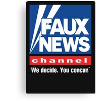 Faux News Channel Canvas Print