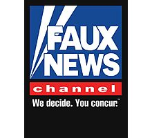 Faux News Channel Photographic Print