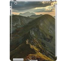 Sunset over mountains iPad Case/Skin