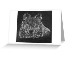 Lone Wolf Scratch Art Greeting Card