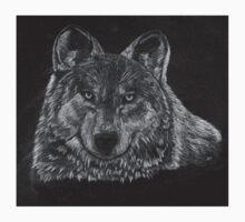 Lone Wolf Scratch Art T-Shirt