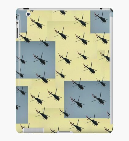 Helifly yellow and grey - Helimosca amarillo y gris iPad Case/Skin