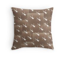 Helifly sepia brown - Helimosca sepia y marron Throw Pillow