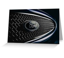 Ford badge from a 2000 Mondeo ST200 Greeting Card