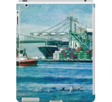 Sunny afternoon in the Port of Los Angeles iPad Case/Skin