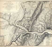 Vintage Map of Harpers Ferry (1863) by BravuraMedia
